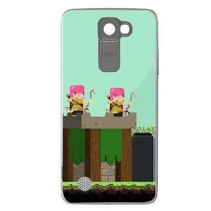 Amazon.com: Silicone Case Clash of Clans 8bit LG K8: Cell ...
