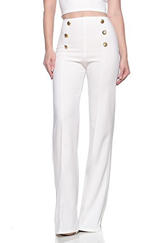 Cemi Ceri Women's J2 Love High Waist Sailor Bell Bottom Flare Pants
