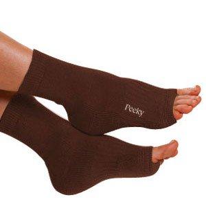 b50dbdf194cbf Eco-Peekys (Chocolate Brown) - Pedicure Sock, Toeless, Yoga, Sleepwear,  Travel Sock