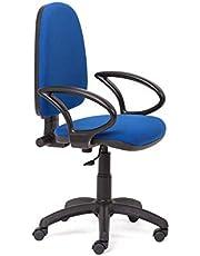 Rocada RD-930/4+956 - Silla rocada de oficina con brazos, color negro