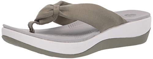 - CLARKS Women's Arla Glison Flip-Flop Dusty Olive 080 M US
