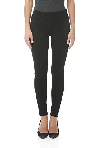 Suko Ponte Knit Leggings for Women Pull on Pants 16832 Black 4