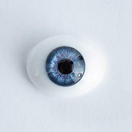 18mm Blue - Oval Glass Eyes - 1 Pair