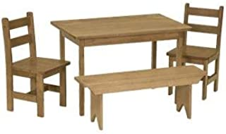 product image for DutchCrafters American Made Maple Wood Kids Dining Table Set (Harvest Stain)