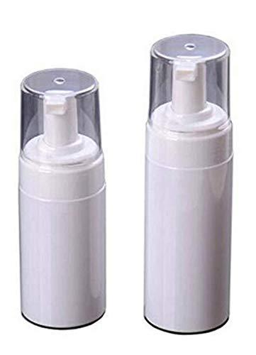 2 Pack 120ml/150ml (4 oz/5 oz) Empty Refillable White BPA Free Plastic Foaming Soap Bottle Small Pump Foamer Jar Pot Dispenser Containers For Spray Mousses Liquid Travel (5 Oz Pump Foaming)