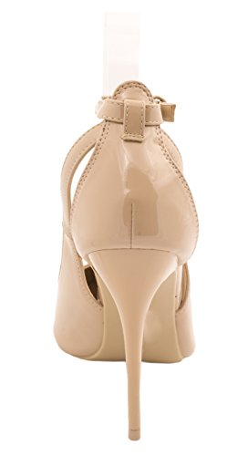 Heels Pumps Elara stilettos carne Punta High moderna barniz Cómodo color vqHAS6