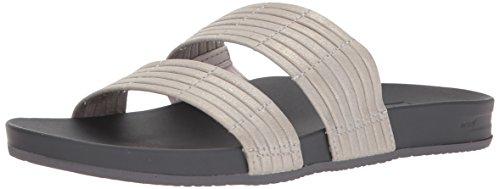 Reef Women's Cushion Bounce Slide Sandal Silver rNYgfs7B