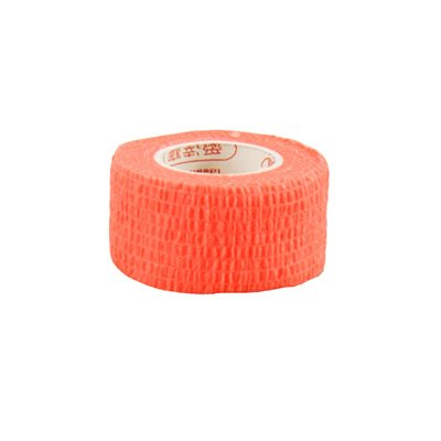 Pack of 3 Rolls Waterproof Self Adhesive Bandage Tape Finger Joints Wrap Sports Care (1inch*6yds, Fluorescnet ()