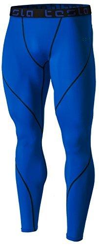 Tesla TM-MUP19-BLU_Large Men's Compression Pants Baselayer Cool Dry Sports Tights Leggings MUP19 -