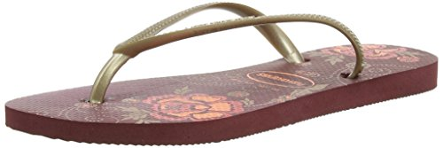 Havaianas Slim Organic Chanclas, mujer multicolor - Mehrfarbig (Grape Wine / 4924)