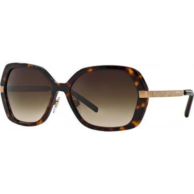 Burberry Women's BE4153Q Dark Havana/Brown Gradient Sunglasses