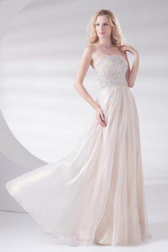 Wunderschoene ROSA Schnuerung Mieder BRIDE GEORGE traegerloses Perle Abendkleid Perlen 7AqxUgz
