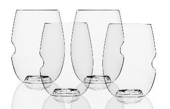 Govino Wine Glass Flexible Shatterproof Recyclable, Set of