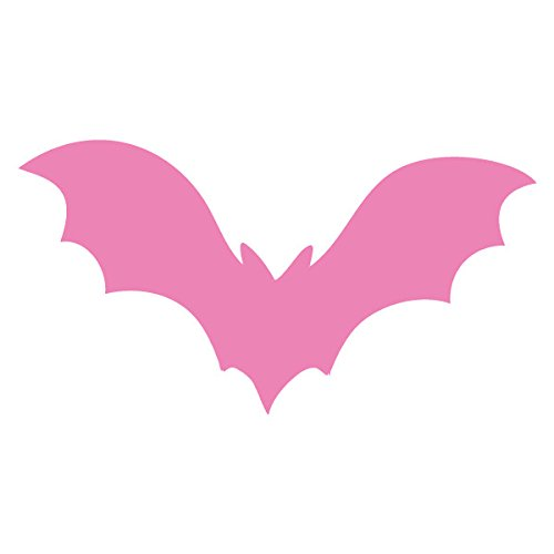 Applicable Pun Flying Vampire Bat Flapping Wings- Vinyl Decal for Outdoor Use on Cars, ATV, Boats, Windows and More - Light Pink 11 inch ()
