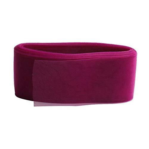 Crinoline Flexible Sinamy Crinoline Horse Hair Braid DIY for Fascinators Hat (Color - Deep Rose -