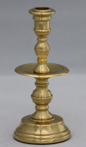 Plantation Candlestick - Brass & Silver Traditions Plantation Thin Taper Candlestick