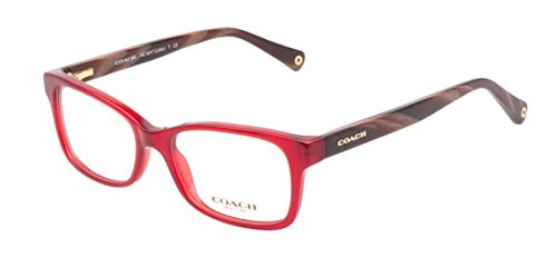 COACH HC6047F 5206 Eyeglasses Milky Burgundy/Burgundy Horn 51mm (Eyeglasses Burgundy Frame)
