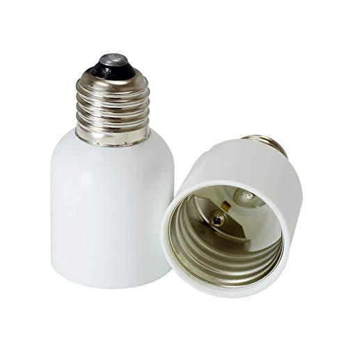 YAYZA! 2-Pack E26/E27 to E39/E40 Base Lamp Light Bulb Socket Converter Adapter Maximum Wattage 500W Heat Resistant Up to 220℃ No Fire Hazard CE -