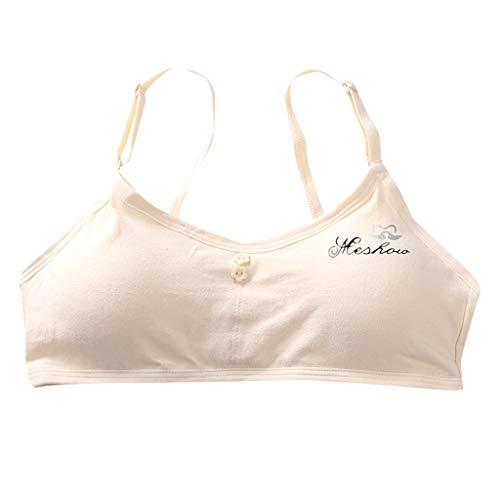 Waymine Kids Girls Bra Development Period Solid Color Vest Sports Underwear (Beige#04) by Girls Bra Waymine (Image #1)