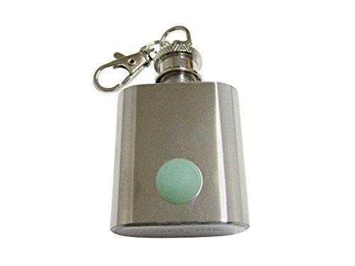 Green Aventurine Gemstone 1 Oz. Stainless Steel Key Chain - Aventurine Keychain Gemstone