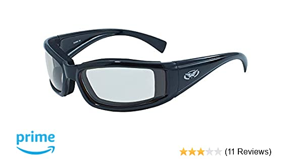 Global Vision New Attitude Motorcycle Glasses with Flames Black Frame//Red Lens