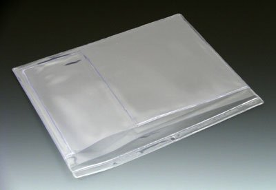 12-1/4'' x 10'' Multi Pocket Clear Vinyl Organizer with 2 Pockets & Hang Hole (10 Gauge) (100 Organizers) - AB-99-3-101