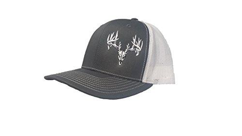 Richardson 3D Puff Hunter Buck Skull Hat Cap Adult Adjustable Snapback Unisex ()