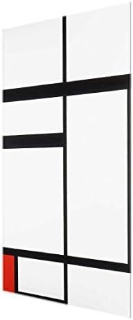Bilderwelten Cuadro de Cristal Piet Mondrian Composition with Red Black and White 3:2 90x60cm: Amazon.es: Hogar