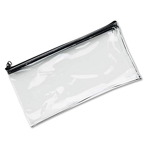 Wholesale CASE of 25 - MMF Industries Clear View Vinyl Zipper Bag-Wallet Bags, with Zipper Top, Vinyl, 11