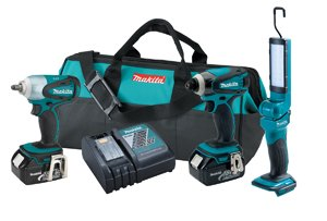 Makita LXT320 18V Impact Driver, Wrench and Flashlight Combo