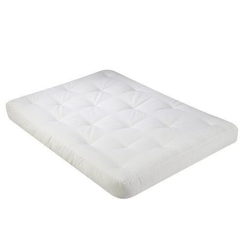 Serta Chestnut Double Sided Foam and Cotton Full Futon Mattress, Natural, Made in the (Futon Cushion)