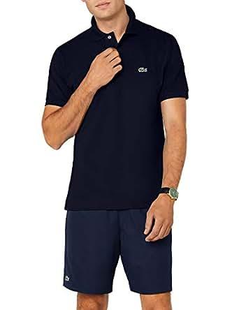 3567e90acb4208 Lacoste Men's Short Sleeve Pique L.12.12 Classic Fit Polo Shirt, Navy Blue,