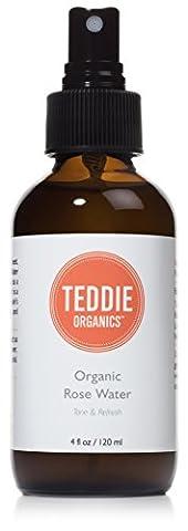 Teddie Organics Organic Alcohol Free Rose Water, 4 oz