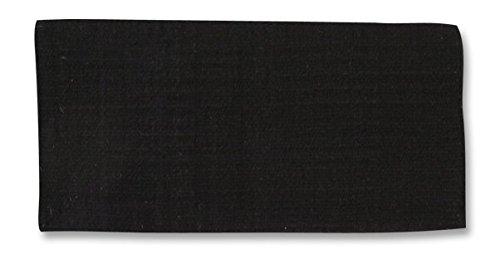 Mayatex San Juan Solid Pony Saddle Blanket, Black, 24 x 24-Inch