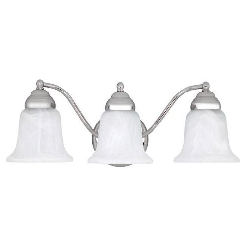 Alabaster Glass Chrome (Capital Lighting 1363CH-117 Vanity with Faux White Alabaster Glass Shades, Chrome Finish)