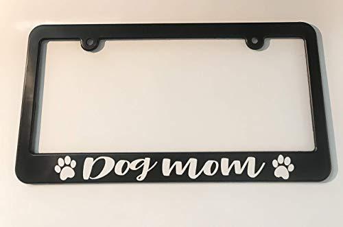 Dog Mom License Plate Frame Holder