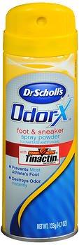 Foot Powder Scholls Dr (Dr. Scholl's Odor-X Foot & Sneaker Spray Powder - 4.7 oz, Pack of 6)