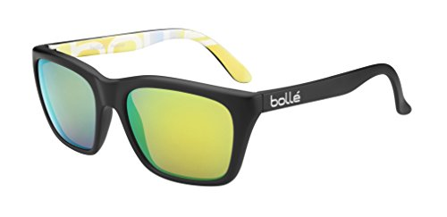 Bolle 527 Sunglasses, Matte Black/Polarized Brown Emerald Oleo AR ()