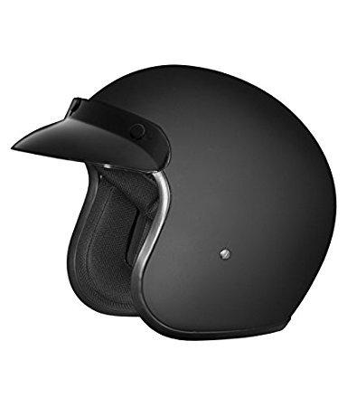 Studds Jetstar Classic Half Helmet (Matt Black, XL)