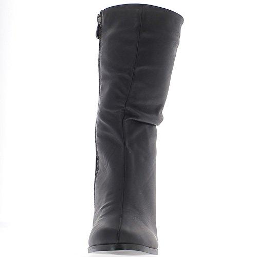 Caldo nero zeppa Stivali con tacco 8,5 cm