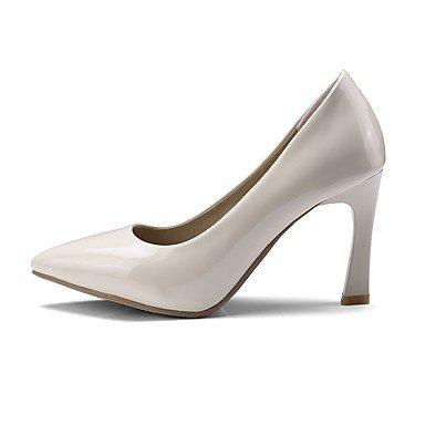 Para Rojo Puntiagudo Semicuero Dedo Zapatos Carrera Negro Tacón Básico Pump Oficina Otoño Y Tacones Vestido Mujer Carrete Primavera q4PwxCTxng
