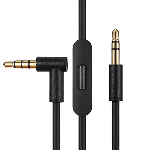 Replacement Audio Cable Cord Wire,Compatible with Beats Headphones Studio Solo Pro Detox Wireless Mixr Executive Pill with in Line Mic and Control (Black)