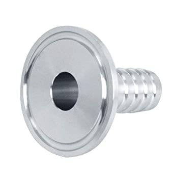 Hose Barb Fittings,2 Tri Clamp to 2 Hose Barbed Adapter SUS304 Sanitary Hose Pipe Fitting, Barb Hose Adapter