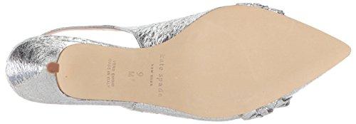 Women's spade kate Pump Oliene york new Silver 0Zqqtx8