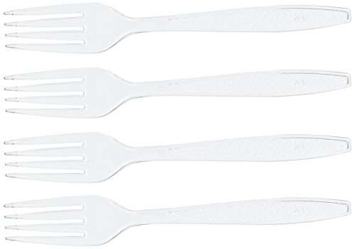 (Blue Sky 100 Count Medium Weight Plastic Forks, 6-Inch, Clear)