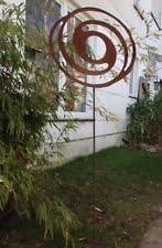 Jardín Conector Bancal Conector oxidado espiral ovalada metal jardín decorativo hierro