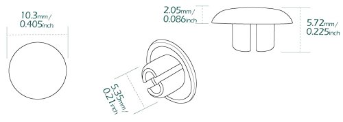 ie M5 Allen Key KiWAV Motocicleta Redondo Perno Tapa Screw Cover Plug Cromo para 6mm Thread Allen Head Bolts