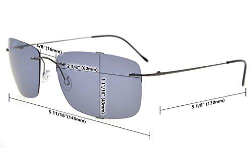 Eyekepper Lunettes de Soleil Polarisees en Titane UV 400 Protection Haut de Gamme bleu verre-2018