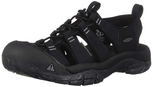 KEEN Men's Newport H2 Water Shoe, Black/Swirl Outsole, 15 M US