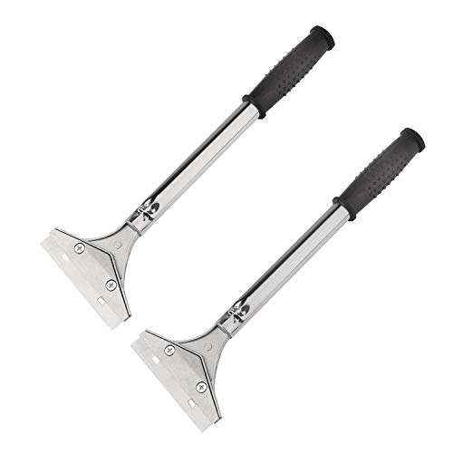 Razor Blade Scrapers, Floor Scraper Long Handle 2 Pack, Used For Removing Paint, Tile